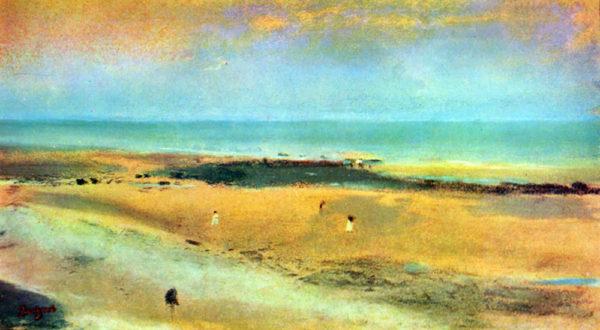 Edgar Degas Beach at low tide