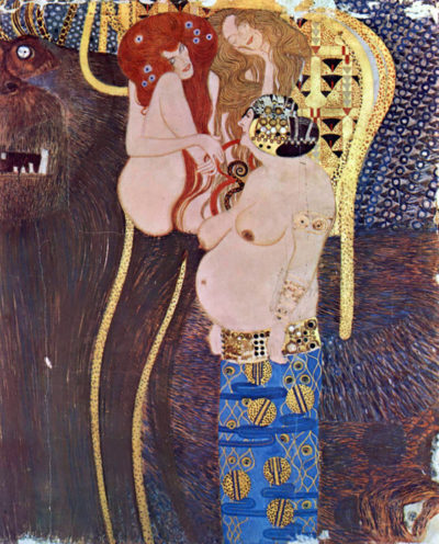 Gustav Klimt Beethoven Frieze - The Hostile Forces (Unchastity