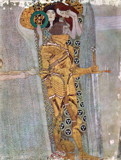 Gustav Klimt Beethoven Frieze - The Well-armed Strong