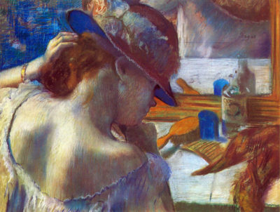 Edgar Degas Before the mirror
