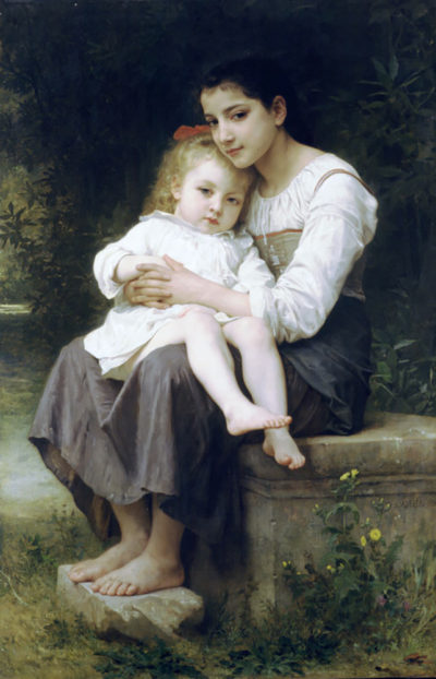 William-Adolphe Bouguereau Big Sis