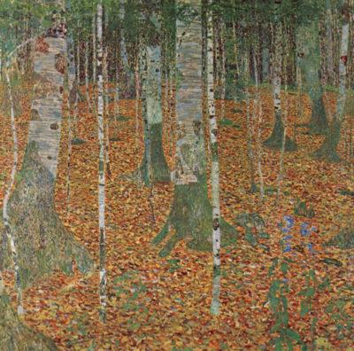 Gustav Klimt Birch Forest