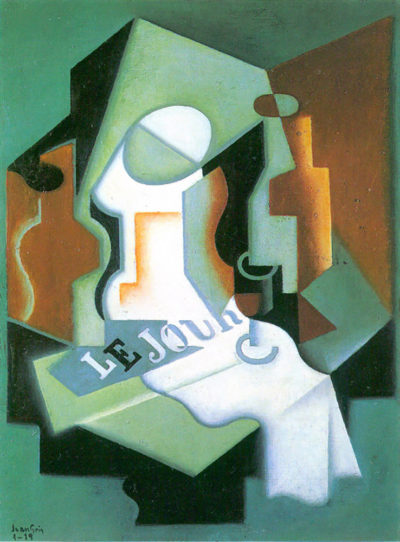 Juan Gris Bottle and fruit bowl