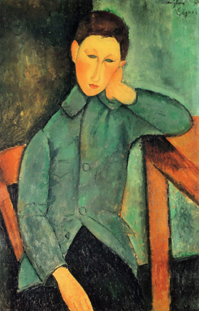 Amedeo Clemente Modigliani Boy in a blue jacket