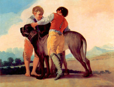 Francisco Goya Boys with blood dogs