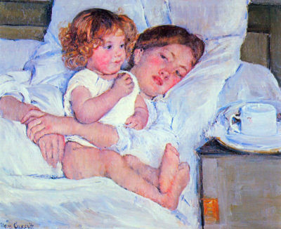 Mary Cassatt Breakfast in bed