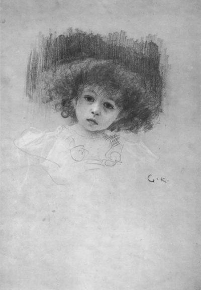 Gustav Klimt Breast image of a child