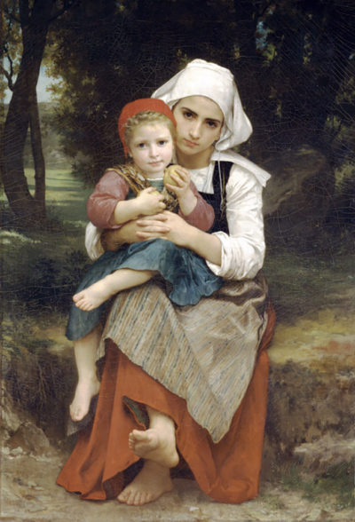William-Adolphe Bouguereau Breton Brother and Sister