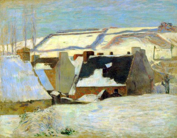 Paul Gauguin Breton Village in Snow