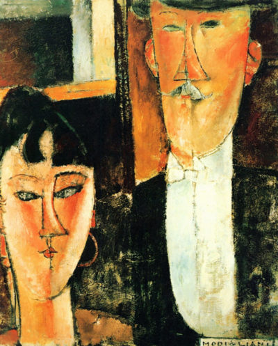Amedeo Clemente Modigliani Bride and Groom