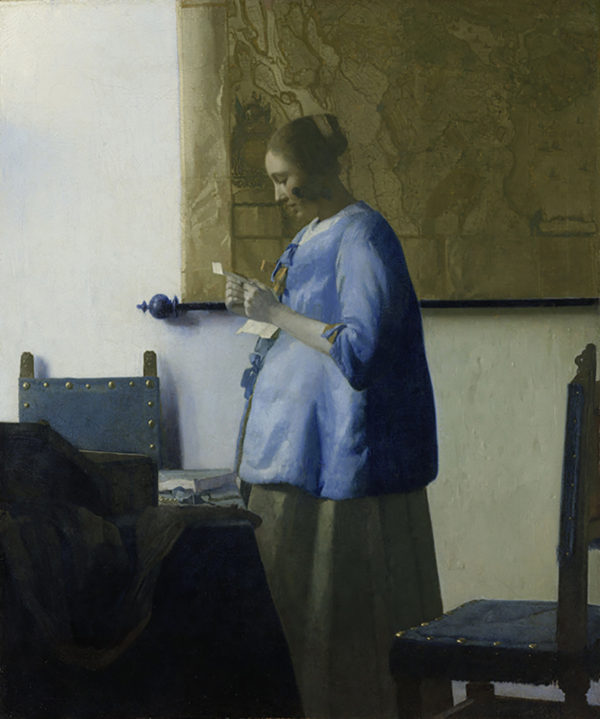 Johannes Vermeer Woman Reading a Letter