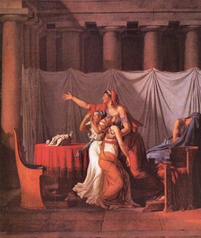 Jacques-Louis David Brutus Liktoren bring his dead sons