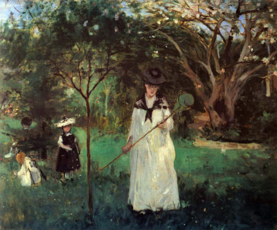 Berthe Morisot Butterfly hunting