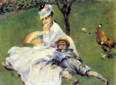 Pierre-Auguste Renoir Camille Monet and her son Jean in the garden of Argenteuil