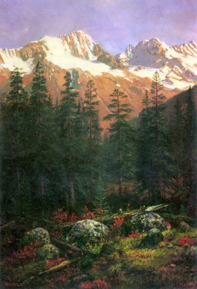 Albert Bierstadt Canadian Rockies