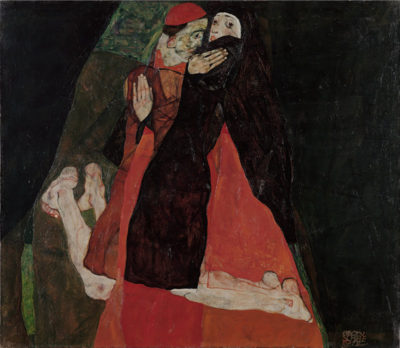 Egon Schiele Cardinal and Nun