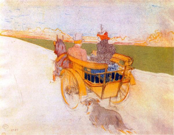 Henri de Toulouse-Lautrec Carriage with Dog