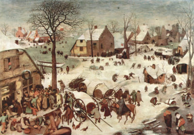 Pieter Bruegel Census at Bethlehem