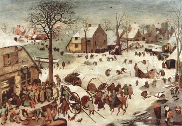 Pieter Bruegel Census at Bethlehem