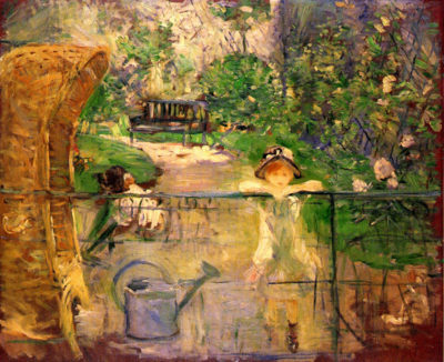 Berthe Morisot Chair in the garden