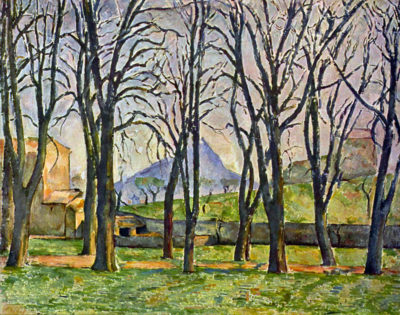 Paul Cézanne Chestnut Trees in Jas de Bouffan