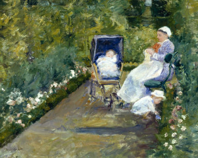 Mary Cassatt Children in the garden with nanny