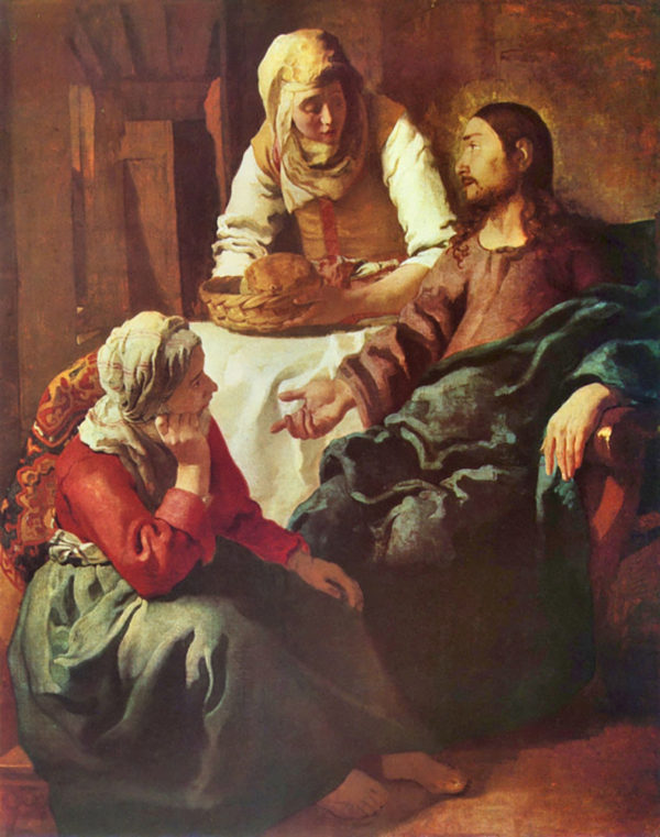 Johannes Vermeer Christ with Mary and Martha