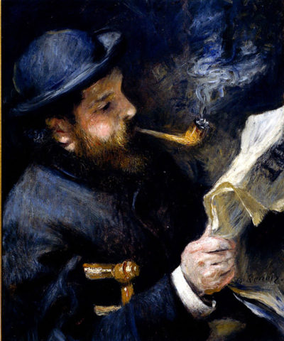 Pierre-Auguste Renoir Claude Monet Reading A Newspaper