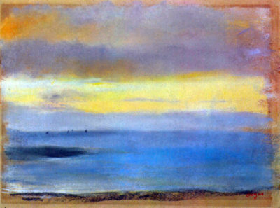 Edgar Degas Coastal strip at sunset