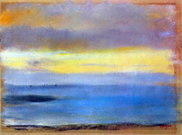 Edgar Degas Coastal strip at sunset