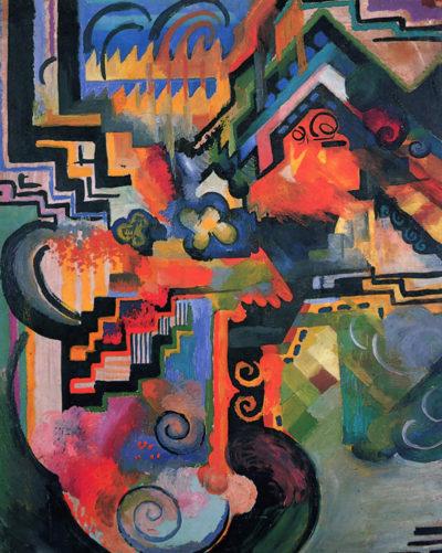 August Macke Colored Composition (Homage To Johann Sebastian Bach)
