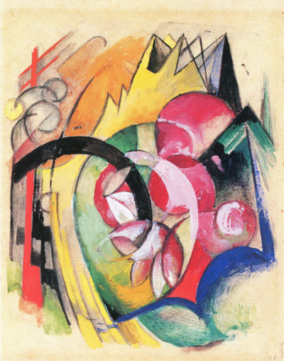 Franz Marc Colored flowers