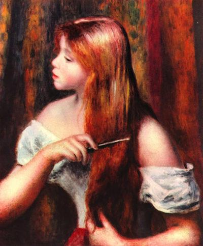 Pierre-Auguste Renoir Combing girl