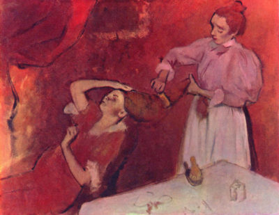 Edgar Degas Combing hair