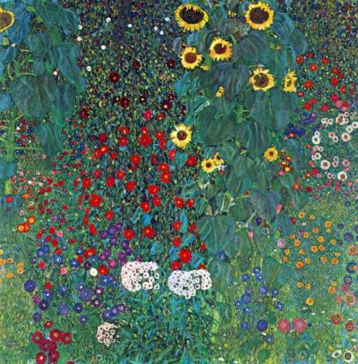 Gustav Klimt Country Garden with Sunflowers