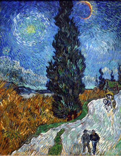 Vincent van Gogh Country road in Provence by night