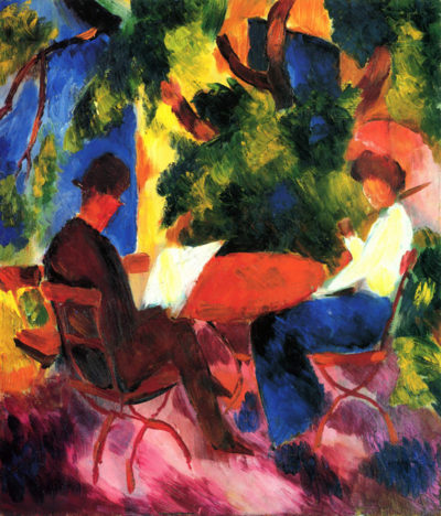August Macke Couple at the garden table