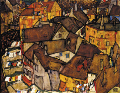 Egon Schiele Crescent of Houses