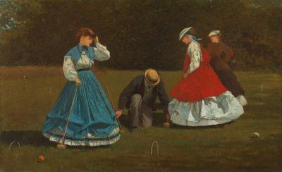 Winslow Homer Croquet Scene