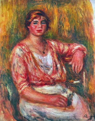 Pierre-Auguste Renoir Dairymaid