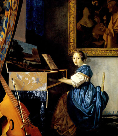Johannes Vermeer Dame on spinet