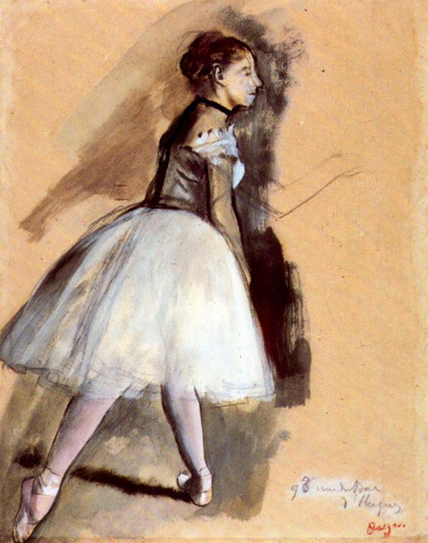 Edgar Degas Dancer in step position