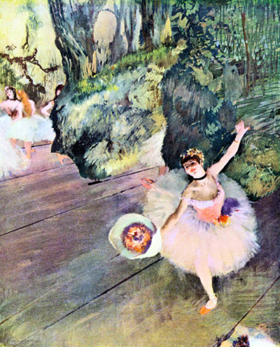 Edgar Degas Dancer with a bouquet of flowers (The Star of the ballet)