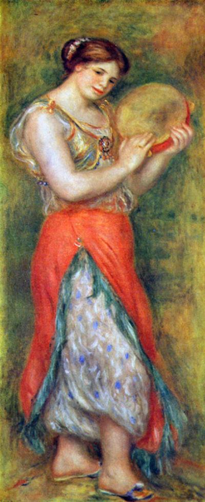Pierre-Auguste Renoir Dancer with tamborine