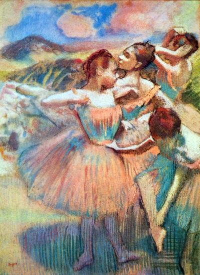 Edgar Degas Dancers in the landscape