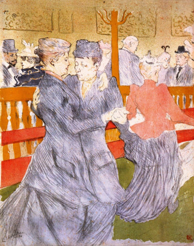 Henri de Toulouse-Lautrec Dancing at the Moulin Rouge