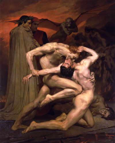 William-Adolphe Bouguereau Dante And Virgil In Hell