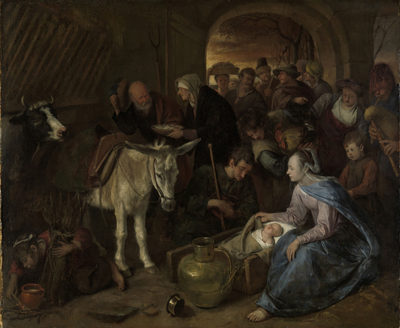 Jan Havicksz. Steen The adoration of the shepherds