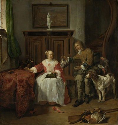 Gabriël Metsu The Hunter's Present