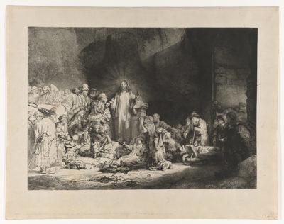 Rembrandt Harmensz. van Rijn Christ Preaching (Hundred Guilder Print)